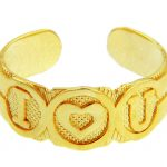 Bold I Heart U Toe Ring in 9ct Gold