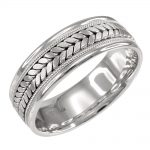 Braided Wedding Ring in 9ct White Gold