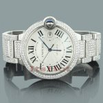 Custom Cartier Ballon Diamond Watch for Men 14.37ct