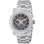 Chronograph Luxury Diamond Watch for Men 0.75ct Luxurman Black MOP Escalade