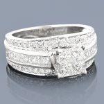 Custom Made Jewelry: Diamond Engagement Ring 3.15ct 14K Gold