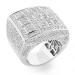 Designer Rings 14K Gold Tic Tac Toe Diamond Ring 9.36ct