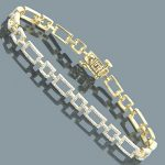 Diamond Bracelets 14K Yellow Gold Ladies Diamond Bracelet 1.67