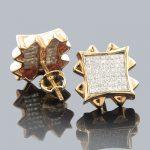 Diamond Earrings Rose Gold Diamond Stud Earrings 1.66ct
