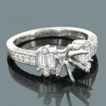 Diamond Engagement Ring Settings 18K Gold Setting .99ct