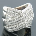 Diamond Fashion Rings 18K Diamond Cocktail Ring 3.10ct