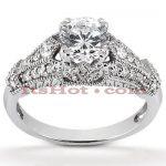 Diamond Platinum Engagement Ring 1.32ct