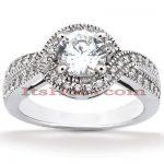 Diamond Platinum Engagement Ring 1.33ct