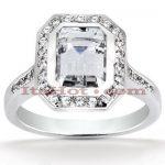 Diamond Platinum Engagement Ring 1.37ct