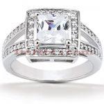 Diamond Platinum Engagement Ring 1.41ct
