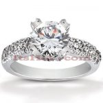 Diamond Platinum Engagement Ring 1.59ct