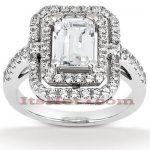 Diamond Platinum Engagement Ring 1.66ct