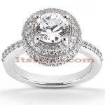 Diamond Platinum Engagement Ring 1.70ct
