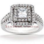 Diamond Platinum Engagement Ring 1.72ct