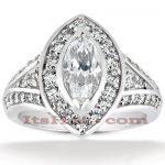 Diamond Platinum Engagement Ring 1.77ct