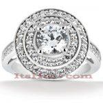 Diamond Platinum Engagement Ring 1.80ct