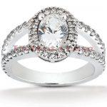 Diamond Platinum Engagement Ring 1.90ct
