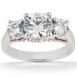 Diamond Platinum Engagement Ring Mounting 0.30ct