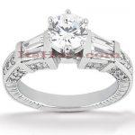 Diamond Platinum Engagement Ring Mounting 0.88ct