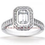 Halo Diamond Platinum Engagement Ring Mounting 1ct