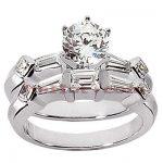 Diamond Platinum Engagement Ring Mounting Set 0.96ct