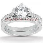 Diamond Platinum Engagement Ring Set 1.45ct