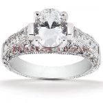 Diamond Platinum Engagement Ring Setting 1ct