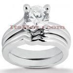 Diamond Platinum Engagement Ring Setting Set