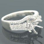 Diamond Ring Settings 18K Gold Engagement Setting .51ct