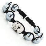 Disco Ball Diamond Skull Hip Hop Bracelet 1.00ct Sterling Silver