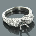 Engagement Ring Settings 18K Gold Diamond Setting .75ct