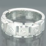 Gold Designer Mens Rings Collection Piece 0.39ct