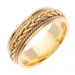 Hand Braided Wedding Ring in 9ct Two-Tone Gold