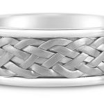 Hand Braided Wedding Ring in 9ct White Gold