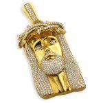 Hip Hop Jewelry: Diamond Jesus Piece Face Pendant 10K Gold 11.3ct