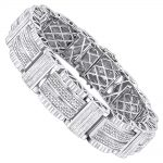 Hip Hop Jewelry: Mens Diamond Bracelet 3.25ct Silver