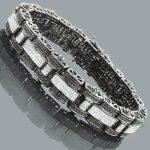 Hip Hop Jewelry: Mens Diamond Bracelet 3.25ct White