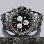 Hip Hop Watches Joe Rodeo Mens Black Diamond Watch 26.7
