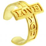 I Love You Toe Ring in 9ct Gold