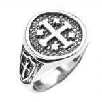 Jerusalem Crusaders Five Wounds of Christ Ring in Sterling Silver