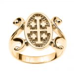 Jerusalem Ring in 9ct Gold
