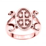Jerusalem Ring in 9ct Rose Gold