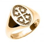 Jerusalem Unisex Ring in 9ct Gold