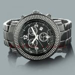 Joe Rodeo Junior Mens Diamond Watch 2.50ct Black Steel