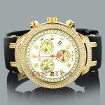 Joe Rodeo Watches: Master Mens Diamond Watch 2.20ct Yellow