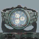Joe Rodeo Watches Mens Blue Diamond Watch Pilot 27.70