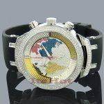 JoJo Joe Rodeo Master World Map Diamond Watch 2.20ct