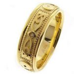 Knot Comfort Fit Wedding Ring in 9ct Gold