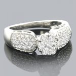 Ladies Diamond Rings 14K Cluster Diamond Ring 0.99ct