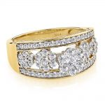 Ladies Diamond Rings 14K Cluster Diamond Ring 1.27ct